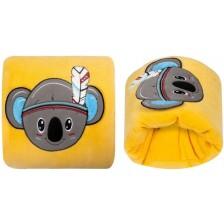 Луксозна възглавница за кърмене с бродерия Sevi Baby - Жълта -1