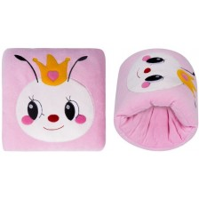 Луксозна възглавница за кърмене с бродерия Sevi Baby - Розова -1