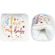 Луксозна възглавница за кърмене с бродерия Sevi Baby - Екрю -1