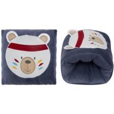 Луксозна възглавница за кърмене с бродерия Sevi Baby - Сива -1