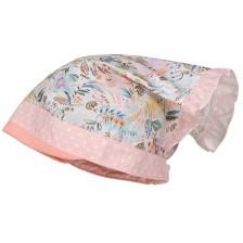 Лятна шапка-кърпа Maximo, размер 53, розова с цветя -1