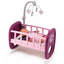 Люлееща се кошара за кукли Smoby, розова -1