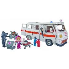 Комплект играчки Simba Toys Маша и Мечока - Линейката на вълците -1