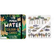 Магически карти Floss&Rock - Оцветявай с вода, Динозаври -1