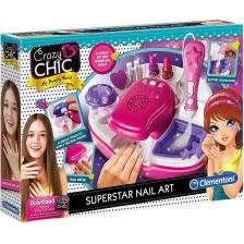 Творчески комплект Clementoni Crazy Chic - Салон за маникюр, Superstar -1