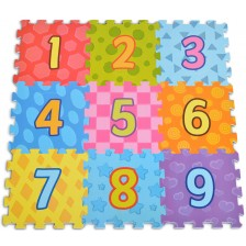 Мек пъзел за под Moni - Number, 9 части -1