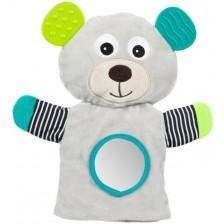Мека играчка за куклен театър Canpol - Bears, сива -1