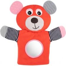 Мека играчка за куклен театър Canpol - Bears, корал -1