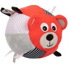 Мека топка Canpol - Bears, корал -1