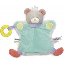 Мека играчка за гушкане Eurekakids - Мече, с активности -1