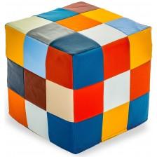 Кубче за отдих Barbaron - Patchwork, еко кожа, многоцветно -1