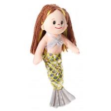 Мека кукла Heunec Poupetta - Малката русалка, с кестенява коса, 36 cm -1