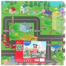 Мек пъзел Sun Ta Toys - Градска карта, 4+8 части -1