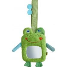 Мека висяща играчка с огледало Haba - Жабка -1