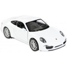 Метална количка Toi Toys Welly - Porsche Carrera, бяла -1