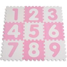 Мек пъзел за под Sun Ta - Цифри, 9 части, розов -1