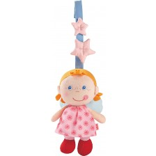 Мека висяща бебе  играчка Haba, розов ангел-пазител -1