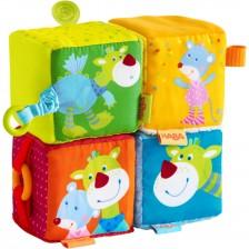 Меки бебешки кубчета с животни Haba  -1