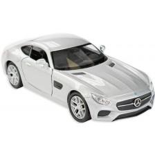 Метална количка Toi Toys Welly - Mercedes AMG, сива -1