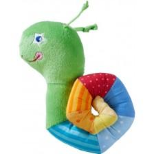 Mека бебешка играчка за закачане Haba - Охлюв -1