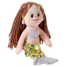 Мека кукла Heunec Poupetta - Малката русалка, с кестенява коса, 23 cm -1