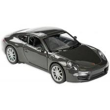 Метална количка Toi Toys Welly - Porsche Carrera, тъмносива -1