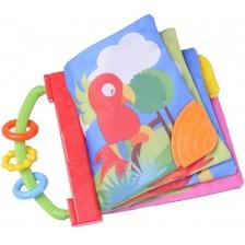 Мека бебешка книжка Beeboo Baby - Папагал -1