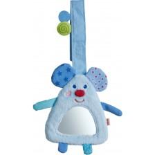 Мека висяща играчка с огледало Haba, Мишка -1