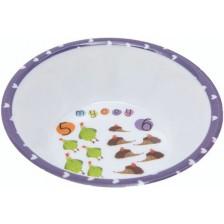 Меламинова чиния  Mycey - Count  it, дълбока, лилава -1