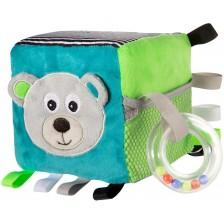 Мека играчка Canpol - Кубче Bears, сиво -1