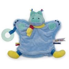 Мека играчка за гушкане Eurekakids - Крокодил, с активности  -1