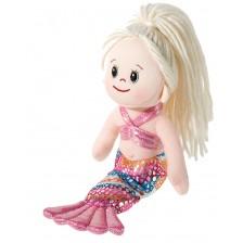 Мека кукла Heunec Poupetta - Малката русалка, с руса коса, 23 cm -1