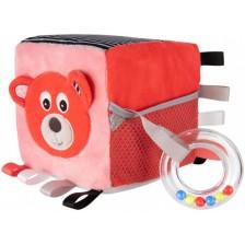Мека играчка Canpol - Кубче Bears, корал -1