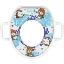 Мек адаптор за тоалетна чиния Sevi Baby - Пингвинчета -1