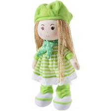 Мека кукла Heunec Poupetta - Със зелена шапчица, 30 cm -1