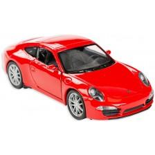 Метална количка Toi Toys Welly - Porsche Carrera, червена -1