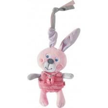 Мека висяща бебешка дрънкалка Haba, Заек -1