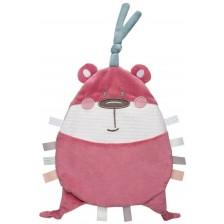 Мека играчка Canpol - Pastel Friends, розова -1
