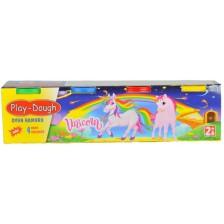 Мини моделин в 4 цвята Heroes Play Dough - Еднорог -1