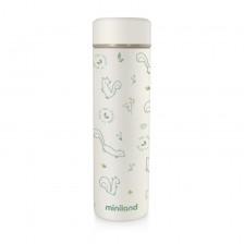 Термос с меко покритие Miniland  - Natur, катеричка, 450 ml -1