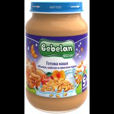 Млечна каша Bebelan Puree - Ябълки, кайсии и овесени ядки, 190 g -1
