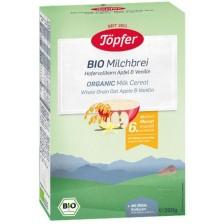 Млечна био каша Töpfer - С пълнозърнест овес, ябълка и ванилия, 200 g -1