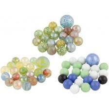 Многоцветни стъклени топчета Goki, 21 броя -1