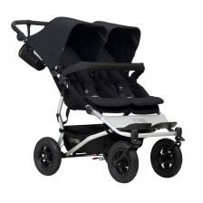 Детска количка за близнаци Mountain Buggy - Duet V3, черна -1