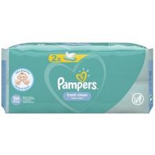 Мокри кърпички Pampers - Fresh Clean, 2 x 52 броя -1