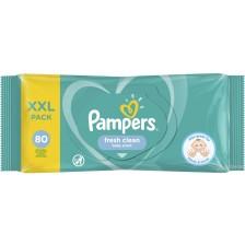 Мокри кърпички Pampers - Fresh Clean, 80 броя -1