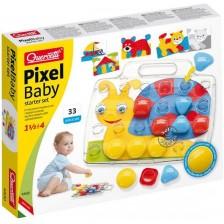 Мозайка от 33 едри части Quercetti Pixel Baby -1