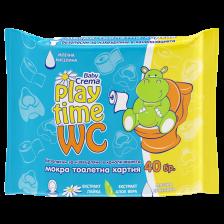 Мокра тоалетна хартия Baby Crema Play Time - 40 броя -1