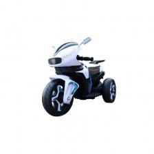 Акумулаторен мотор Moni - Shadow, с кожена седалка, бял -1
