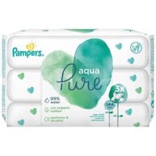 Мокри кърпички Pampers Aqua - 144 броя -1
